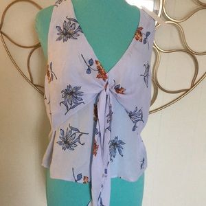 NWT LUSH floral top Large